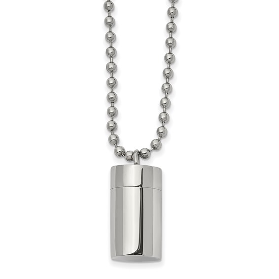 Stainless Steel Capsule Ashes Necklace for Man
