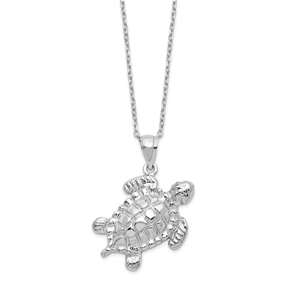 Sterling Silver Turtle Ashes Necklace