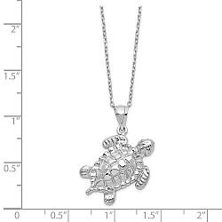 Sterling Silver Turtle Ashes Necklace - Free Shipping