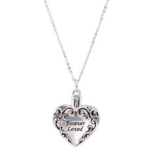 Sterling Silver Forever Loved Ash Holder Necklace - Cremation Necklace