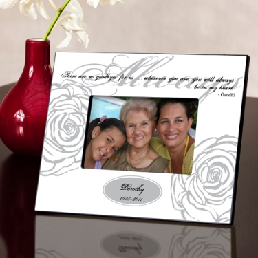 Personalized Memorial Picture Frame in White
