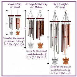 Personalized Memorial Wind Chimes - Square Bronze