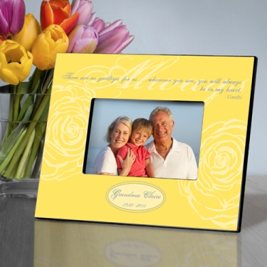 Personalized Memorial Picture Frame in Yellow